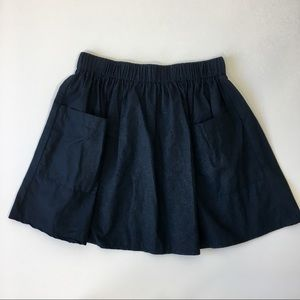 NWOT Asos Navy Blue Skater Skirt with Pockets